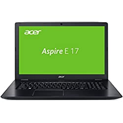 Acer Aspire E 17 (E5-774-51SK) 43,9 cm (17,3 Zoll HD+) Notebook (Intel Core i5-7200U, 8GB RAM, 1000GB HDD, Intel HD Graphics, HDMI, USB 3.0, Win 10) schwarz