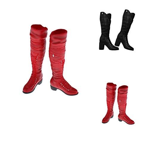 Hochhackige Kampfstiefel (sharprepublic 1/6 Skala Simulation Lace Up Fashion Hohe Stiefel Für 12 Zoll Action Figuren Körper)