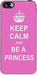 Snoogg Keep Calm Princess Designer Protective Back Case Cover Forapple Iphone...
