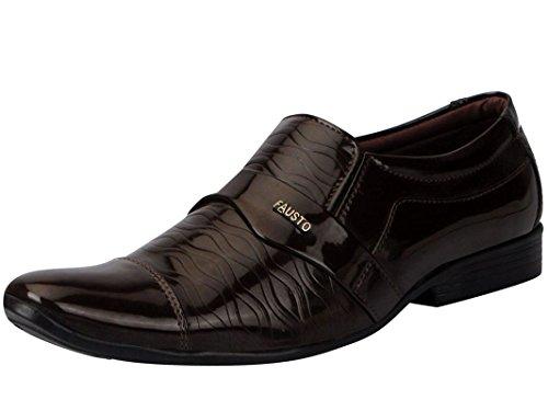 Fausto 5006-40 Brown Men's Formal Slip On