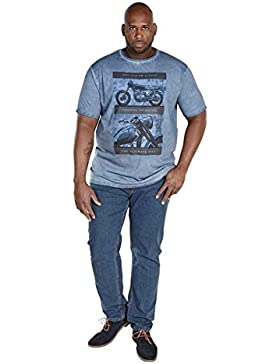 D555 - Camiseta - camisa - Básico - Clásico - Manga corta - para hombre