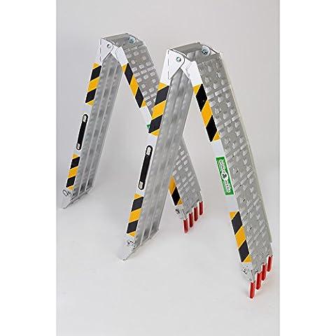 Rampa da carico alluminio grigia max 680 kg pieghevole coppia MAVATV001B(1) per moto,scooter,quad,atv