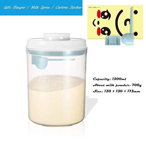 DMXY Kunststoff-Anti-Fall-Milchpulverspender Mit Leicht Zu Reinigendem LöFfel FüR Versiegelte Lebensmittel, Snacks Und GetreidelagerbehäLter -