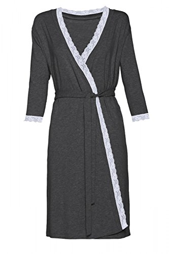 HAPPY MAMA Women's Maternity Robe 3/4 Sleeves Dressing-Gown Belt 593p