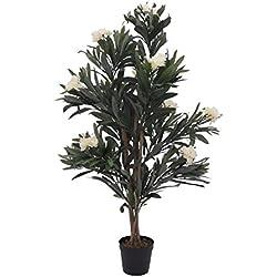 Künstlicher Oleander MINOU, weiß, 120 cm - Kunstbaum / Deko Baum - artplants