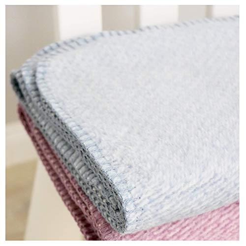 Ideal als Baby Decke Flauschige Babydecke aus 100/% Bio Baumwolle Bettdecke oder Kuscheldecke Erstlingsdecke kuschelige Baumwolldecke hergestellt in DEUTSCHLAND in grau NEU bei Minky Mooh/®!