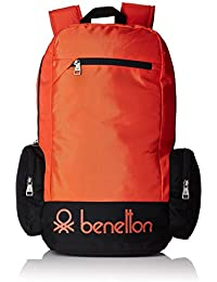 United Colors of Benetton 22 Ltrs Orange Casual Backpack (16A6BAGT7010I)