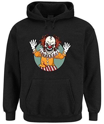 Evil Clown Hooded-Sweater Black Certified Freak-S