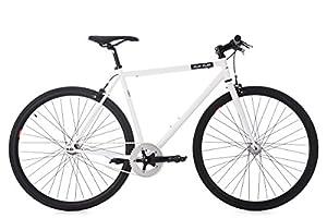 KS Cycling Fixie Fitnessbike 28 Flip Flop weiß RH 56 cm Fahrrad, 28