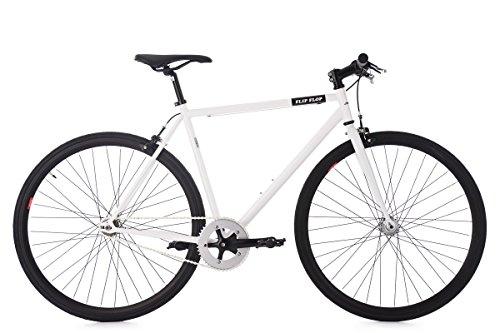 KS Cycling Fixie Fitnessbike 28\'\' Flip Flop weiß RH 56 cm Fahrrad, 28