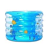 Vasca da bagno, piscine Ammollo Bagni baby piscina gonfiabile ispessisce il buon effetto di isolamento ambientale di 95 × 70 centimetri Vasche da bagno -, pompa a pedale idromassaggio