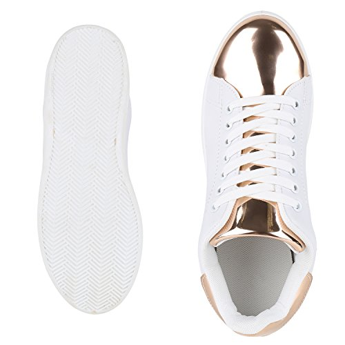 Japado , Sneakers Basses femme Weiss Rose Gold Bianco