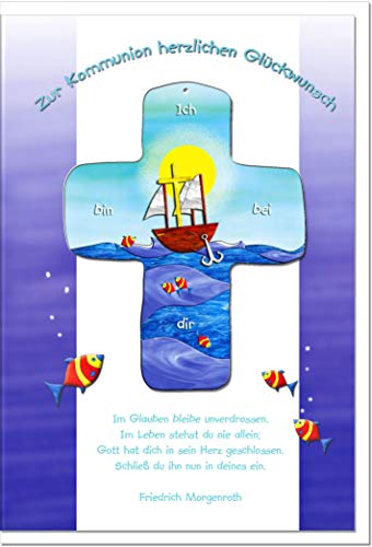 metALUm Karte zur Kommunion SCHIFF | KOM005S