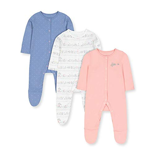 Mothercare G Lovely Bunny 3pk Sleepsuits Pijama, ((Multi 1), 12-18 Months (Size:86)...