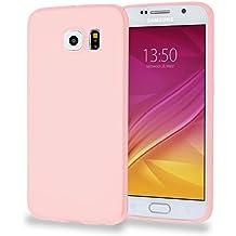 MyGadget Funda slim para Samsung Galaxy S6 Duos ultra Delgada 0,8mm - Carcasa liviana en Silicona TPU protectora cómoda y ligera - Rosa