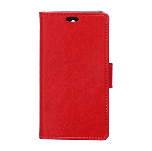 CaseforYou Hülle iphone X Schutz Gehäuse Hülse Crazy Horse Pattern PU Leather Wallet Case with Flip Stand Function and Card Slots Magnetic Closure Cover Schutzhülle für iphone X Handy (Blue) Red