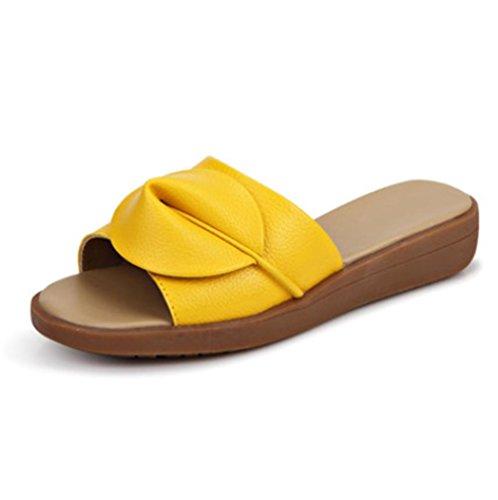 Sandales mode d'été et des pantoufles mot glisser sandales plates Mme 3