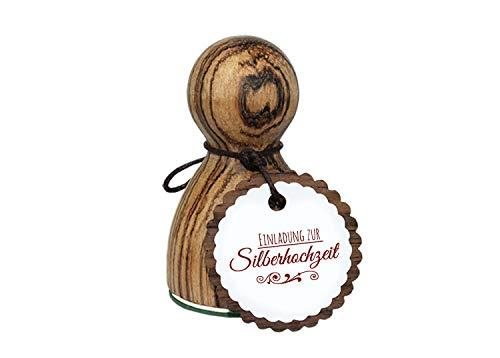 Maxi Stempel L - Einladung zu unserer silbernen Hochzeit , Stempel Silberhochzeit 8