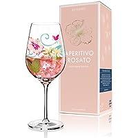RITZENHOFF Aperitivo Rosato Aperitifglas von Dominique Tage, aus Kristallglas, 600 ml, mit trendigen Dekoren