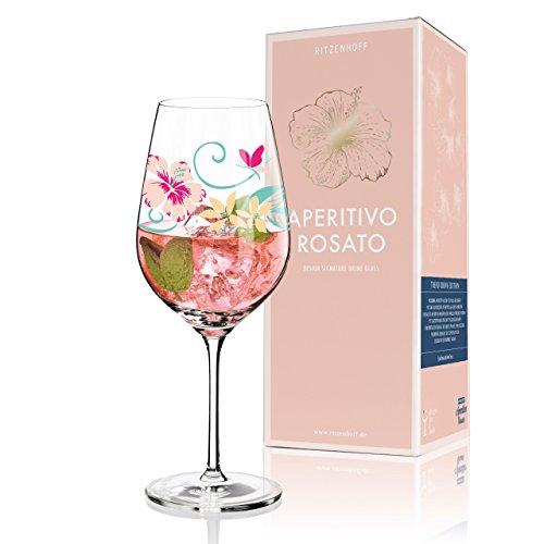Rosato Aperitifglas von Dominique Tage, aus Kristallglas, 600 ml, mit trendigen Dekoren ()