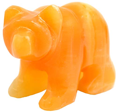 Anzuelo de calcita Naranja Radiante, 8,89 cm de Largo, 6,35 cm de Alto (1,27 kg), Tallado de la Serie Real North American Gray Onyx Aragonite – La Serie Artesana Mined de HBAR