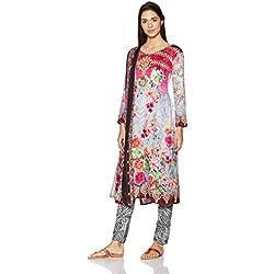 BIBA Women's Dress Material (KO AW17 HEENA 306_PINK_FREE)