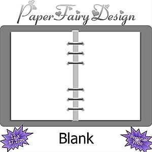 Kalendereinlagen - Personal Wide (12cm x 17.1cm) - Blank/Leer - 120g Premium Papier