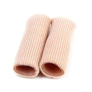 B-035 SEBS Zehenröhrchen Zehenkappen Zehenkissen Hühneraugen-Entferner Finger Zehenschutz Körpermassagegerät Einlegesohlen Gesundheitswesen – Hautfarbe S