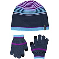 Columbia Youth Hat and Glove Set Kit de Guantes y Gorro, Unisex niños