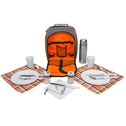 Picknick Rucksack inkl. Geschirr für 2 Personen - Art. 600309