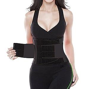Acexy Fitnessgürtel Schwitzgürtel zur Fettverbrennung Taille Trimmer Gürtel Rückenstütze Einstellbare Bauch Elastische Taille Trainer Sanduhr Body