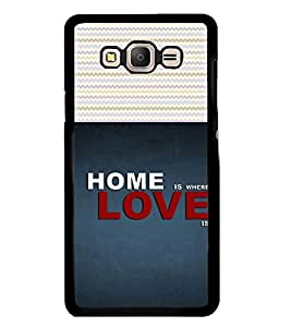 PrintVisa Home Is Where Love Is Wording High Gloss Designer Back Case Cover for Samsung Galaxy E7 (2015) :: Samsung Galaxy E7 Duos :: Samsung Galaxy E7 E7000 E7009 E700F E700F/Ds E700H E700H/Dd E700H/Ds E700M E700M/Ds