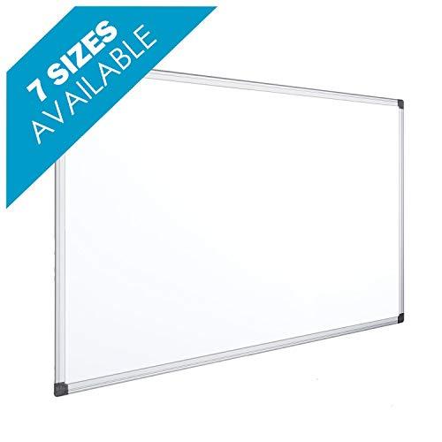 OFITURIA® Pizarra Magnética Blanca Lacada Con Marco De Aluminio Resistente Fácil De Borrar En Seco (1200X900 MM)