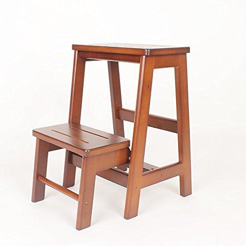 ZXQZ Repose-Pieds créatif en Bois Solide/Tabouret d'échelle/échelle Pliante/escabeau Multifonctionnel Tabouret 54 * 38 Cm Repose-Pieds de Stockage (Couleur : B)
