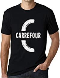 One in the City Hombre Camiseta Vintage T-Shirt Gráfico Letter C Countries and Cities Carrefour Negro…