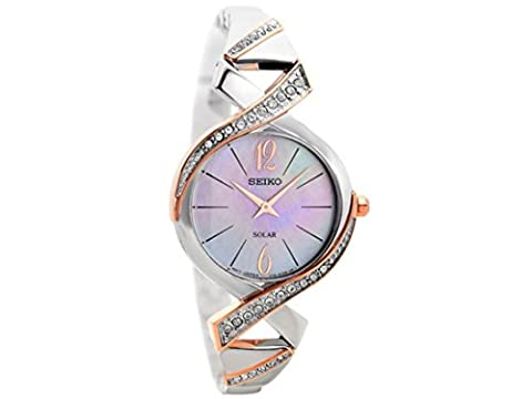 Seiko Ladies Solar Two Tone Watch