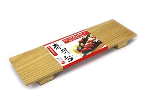 """Bandeja de madera de paulonia para sushi, 28 x 9 cm. La manera perfecta de presentar sushi japonés. Estas hermosas bandejas de madera están hechas de madera de paulonia, cultivada en Asia. También conocido como el """"árbol de la princesa"""" o """"kiri"""" en J..."""