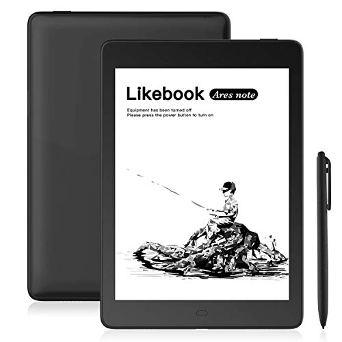 Likebook Ares-Note E-Reader, 7.8 Eink Carta Screen, Dual Touch, Hand Writing, Built-in Cold/Warm Light, Built-in Audible, Android 6.0, Octa Core Processor, 2GB+32GB