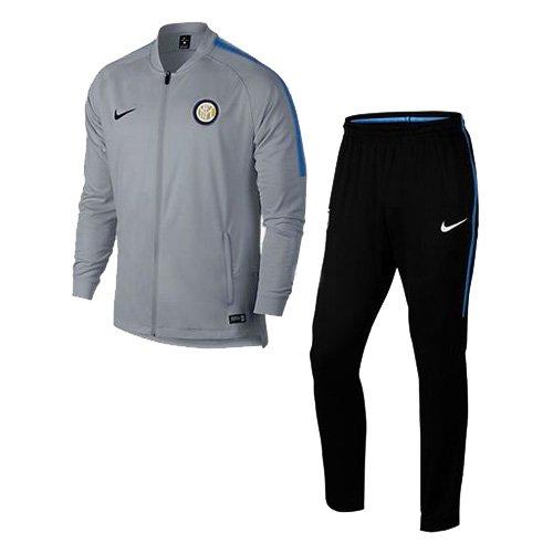 Nike Herren M NK Dry Squad TRK Suit K Inter Mailand Fußball-Trainingsanzug Wolf Grau/Königsblau/Schwarz 2XL