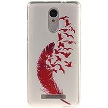 case cover para Xiaomi Redmi Note 3,Crisant Pimiento rojo Diseño Protección suave TPU Gel silicona Teléfono Celular Back funda Carcasa para Xiaomi Redmi Note 3