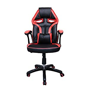 huigou HG® Silla Giratoria De Oficina Gaming Chair Apoyabrazos Acolchados Premium Comfort Silla Racing Capacidad De…