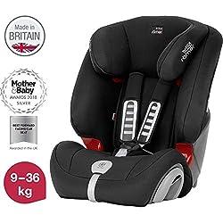 Britax Römer Kindersitz, 9 - 36 kg, EVOLVA 123 PLUS Autositz Gruppe 1/2/3, cosmos black