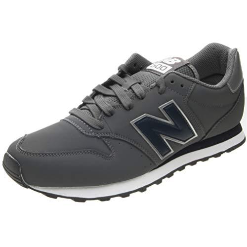 New Balance Herren 500 Sneaker, Grau (Grey/Navy Mnn), 44.5 EU