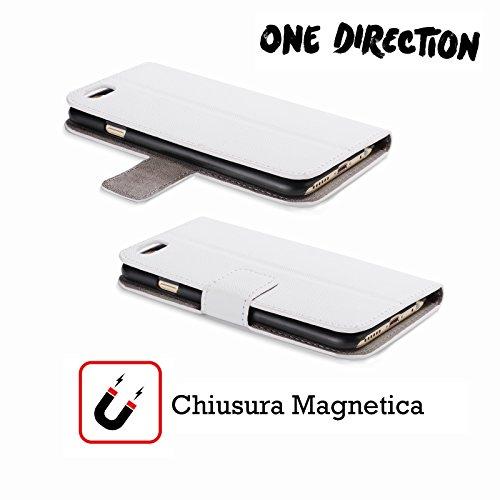Offizielle One Direction Harry Im Voll Gruppenbild Solo Brieftasche Handyhülle aus Leder für Apple iPhone 5 / 5s / SE Harry Hälfte