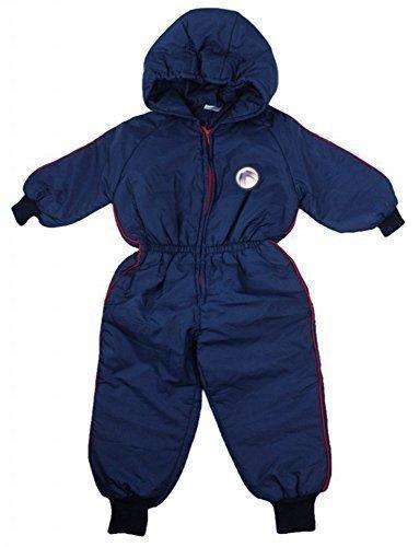 Jungen Baby Swallow Motiv Mit kaputze Schneeanzug Skianzug Pramsuit Mantel größen von 6 bis 18 Monate - Marine, 74-80