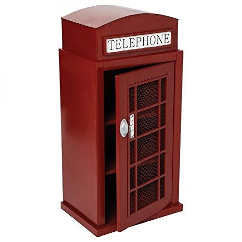 Prix Meuble étagère Grande cabine téléphonique – Style London – Coloris ROUGE