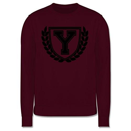Anfangsbuchstaben - Y Collegestyle - Herren Premium Pullover Burgundrot