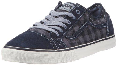 Vans Damen Devan (Boxie Plaid) blue Low-top, Blau, 41 EU Plaid Low Top Sneaker