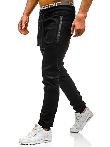 BOLF – Jogging pantalons – Pantalons de sport – Jogger – Casual – Baggy – Motif – Homme [6F6] Noir