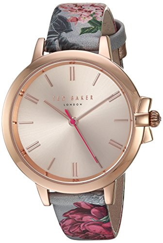 Ted Baker Women's 'RUTH' Quartz Stainless Steel and Leather Casual WatchMulti Color (Model: TE50267002)